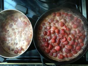 berries cooking!