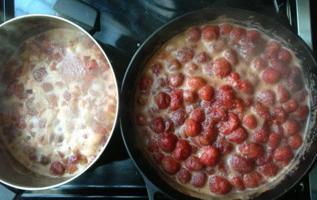 berries cooking!