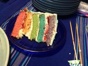 That's right.  Rainbow cake.